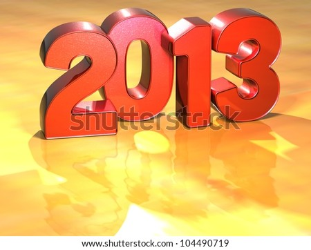 Word 2013 on yellow background (high resolution 3D image)