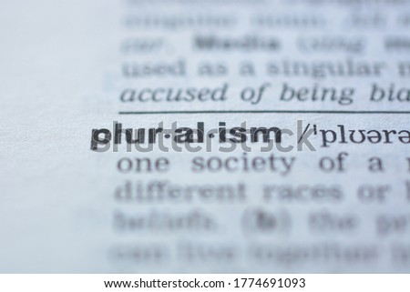 Word PLURALISM in the dictionary Сток-фото ©