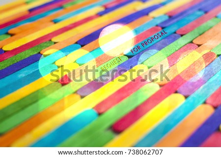 """Word """"REQUEST FOR PROPOSAL"""" over the colorful background #738062707"""