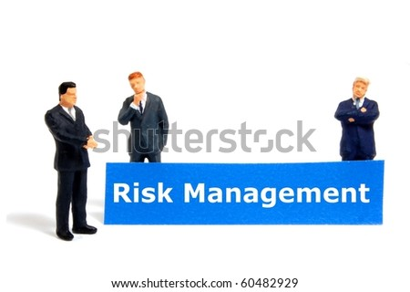 word risk management showing business investment or finance concept
