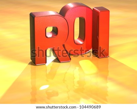 Word Roi on yellow background (high resolution 3D image)