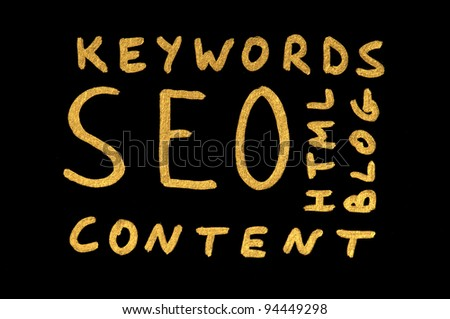 Word SEO. Search engine optimization conception