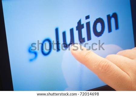 word solution on touch screen device