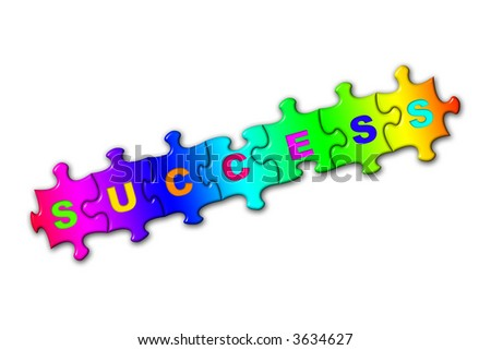 Word Success from puzzles, isolated on white