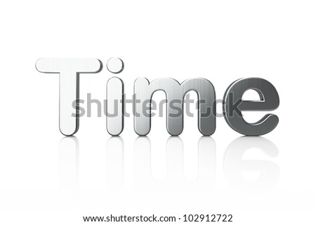 Word Time isolated on white background