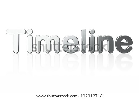 Word Timeline isolated on white background