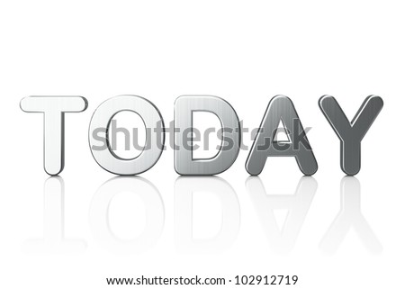Word Today isolated on white background