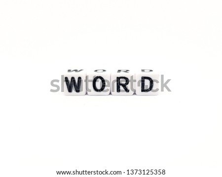 word word built with white cubes and black letters on white background #1373125358