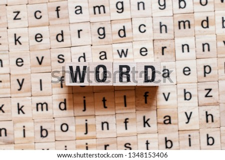Word word concept #1348153406