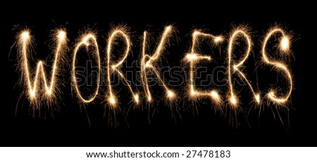Word workers written sparkler