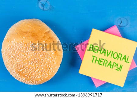 Word writing text Behavioral Therapy. Business concept for help change potentially selfdestructive behaviors. #1396991717
