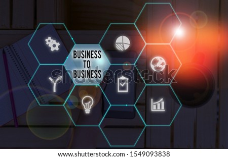 Word writing text Business To Business. Business concept for Commercial Transaction between two Businesses.