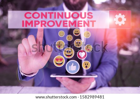 Word writing text Continuous Improvement. Business concept for ongoing effort to improve products or processes.