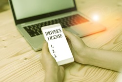 Word writing text Driver S License. Business concept for a document permitting a demonstrating to drive a motor vehicle.