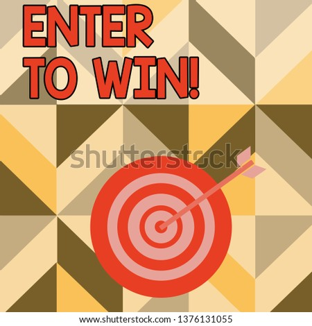 d10e53368e1 Word writing text Enter To Win. Business concept for exchanging something  value for prize chance