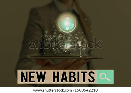 Word writing text New Habits. Business concept for change the routine of behavior that is repeated regularly.