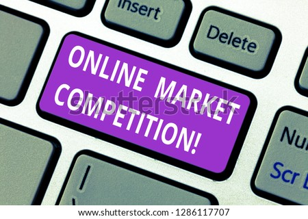11bff6a10f Word writing text Online Market Competition. Business concept for Rivalry  between companies selling same product