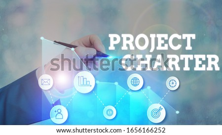 Word writing text Project Charter. Business concept for typically short formal document that describes your project.