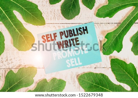 Word writing text Self Publish Write Promote Sell. Business concept for Auto promotion writing Marketing Publicity.