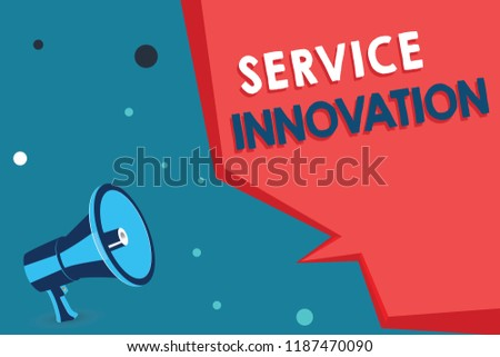 Word writing text Service Innovation. Business concept for Improved Product Line Services Introduce upcoming trend