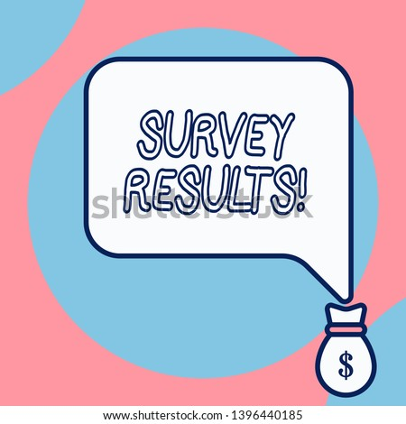 Word writing text Survey Results. Business concept for result of activity that collects or acquires statistical data.