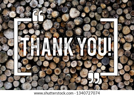 Word writing text Thank You. Business concept for Appreciation greeting Acknowledgment Gratitude Wooden background vintage wood wild message ideas intentions thoughts. #1340727074