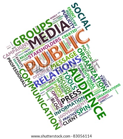 Wordcloud related to word public relation