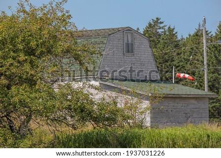 Worden barn in Nova Scotia Stockfoto ©