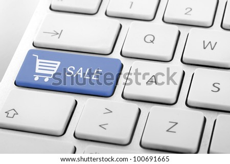 Wording Sale on computer keyboard