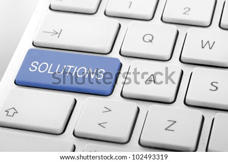 Wording Solutions on computer keyboard