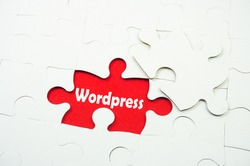 Wordpress word on jigsaw puzzle