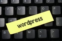 WordPress,word writing WordPress over keyboard button background