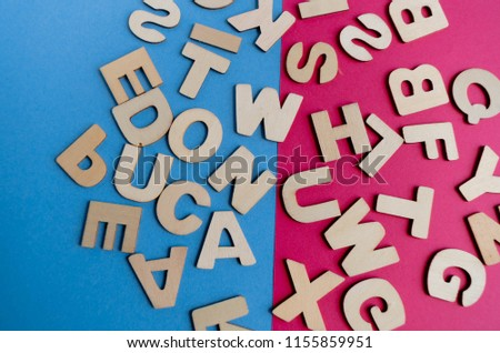 Words Have Power word cube on wood background ,English language learning concept #1155859951
