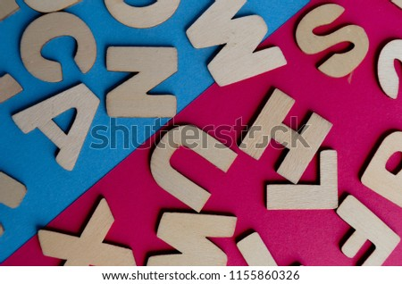 Words Have Power word cube on wood background ,English language learning concept #1155860326