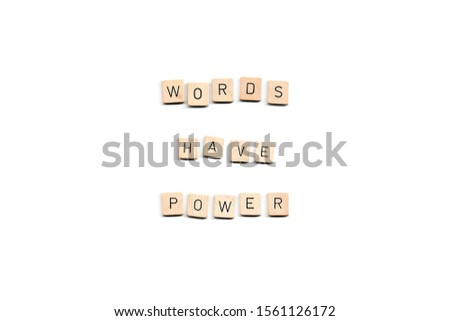 words have power word on white background