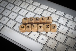Words Matter Word In Wooden Cube