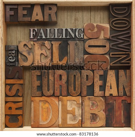 words related to European economic debt problems