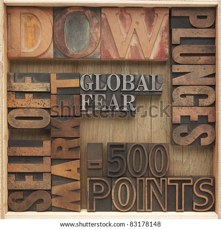 words related to 2011 stock market plunges