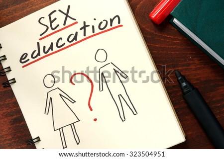words sex education written in...