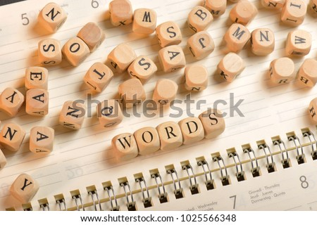 Words word on wooden cubes. Words concept #1025566348