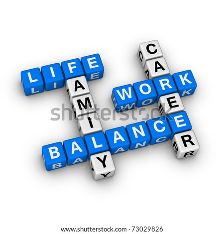 Work and Life Balance - stock photo
