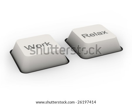 Work and Relax buttons (image can be used for printing or web)