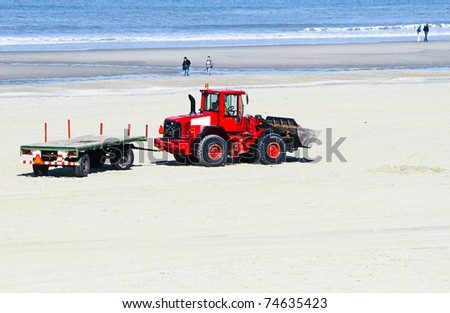 Work at the beach - preparing for summerseason - transportation