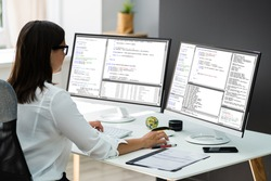 Work From Home On Multiple Computer Screen