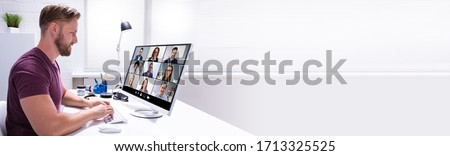 Work From Home Video Conferencing On Computer