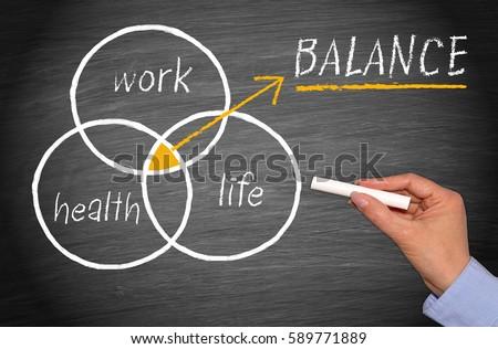 Work, Health and Life Balance Concept - Work-Life Balance