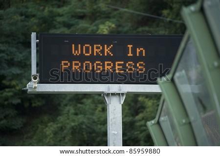 Work in progress led signage
