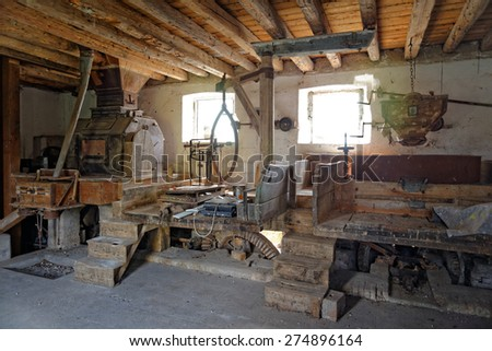 Work in the ancient mill