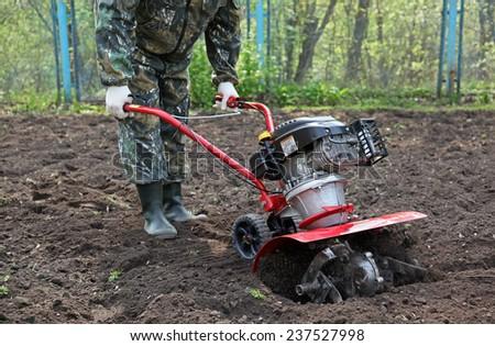 Work in the garden cultivators #237527998