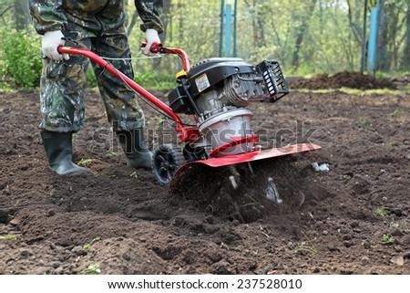 Work in the garden cultivators #237528010